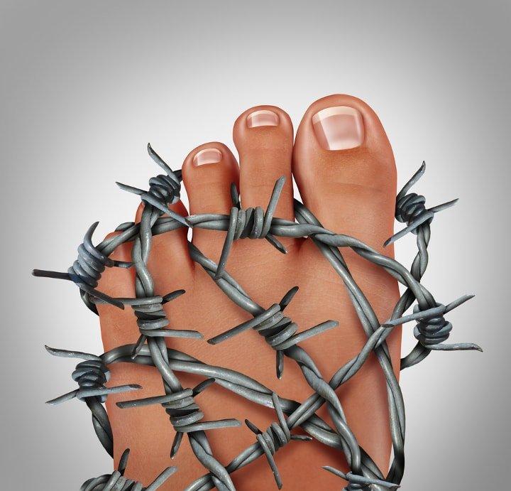 Wrażliwa stopa